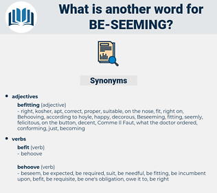 be seeming, synonym be seeming, another word for be seeming, words like be seeming, thesaurus be seeming