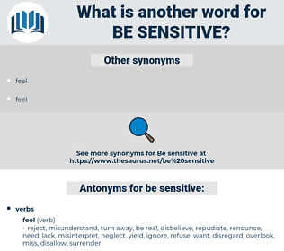 be sensitive, synonym be sensitive, another word for be sensitive, words like be sensitive, thesaurus be sensitive