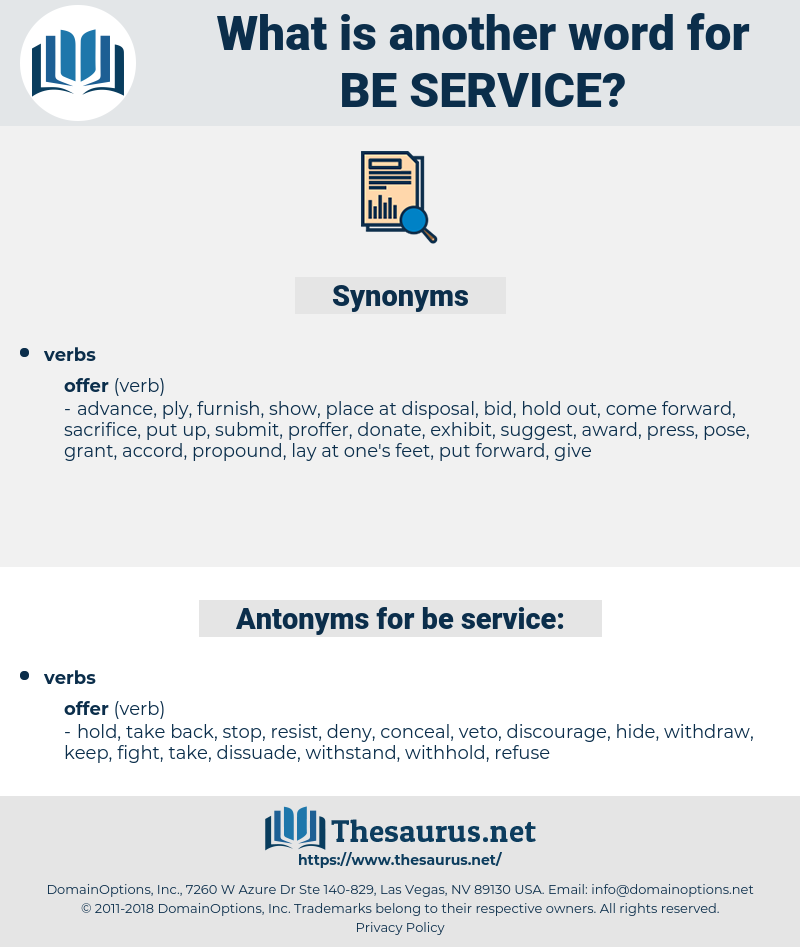 be service, synonym be service, another word for be service, words like be service, thesaurus be service