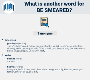 be-smeared, synonym be-smeared, another word for be-smeared, words like be-smeared, thesaurus be-smeared