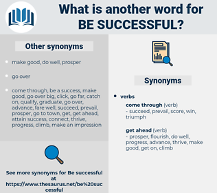 be successful, synonym be successful, another word for be successful, words like be successful, thesaurus be successful