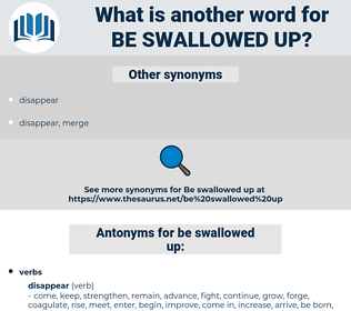 be swallowed up, synonym be swallowed up, another word for be swallowed up, words like be swallowed up, thesaurus be swallowed up
