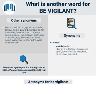 be vigilant, synonym be vigilant, another word for be vigilant, words like be vigilant, thesaurus be vigilant