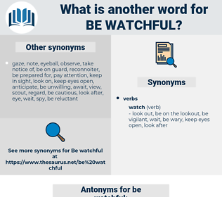be watchful, synonym be watchful, another word for be watchful, words like be watchful, thesaurus be watchful