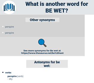 be wet, synonym be wet, another word for be wet, words like be wet, thesaurus be wet
