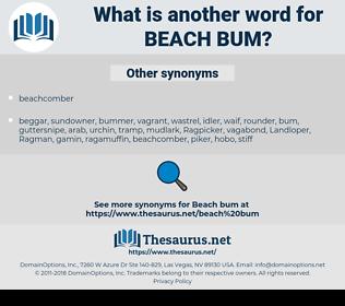 beach bum, synonym beach bum, another word for beach bum, words like beach bum, thesaurus beach bum