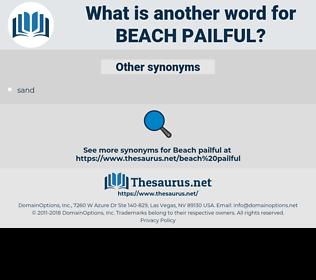 beach pailful, synonym beach pailful, another word for beach pailful, words like beach pailful, thesaurus beach pailful