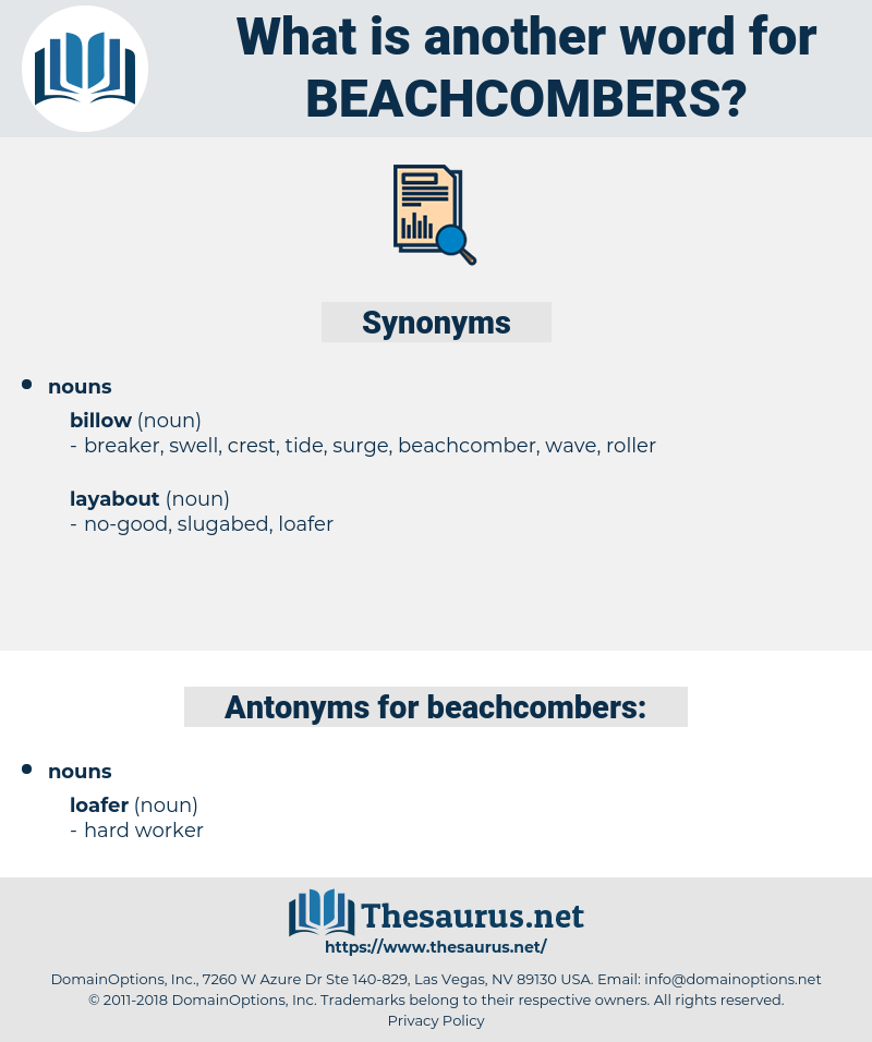 beachcombers, synonym beachcombers, another word for beachcombers, words like beachcombers, thesaurus beachcombers