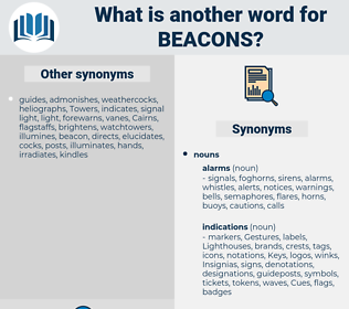 beacons, synonym beacons, another word for beacons, words like beacons, thesaurus beacons