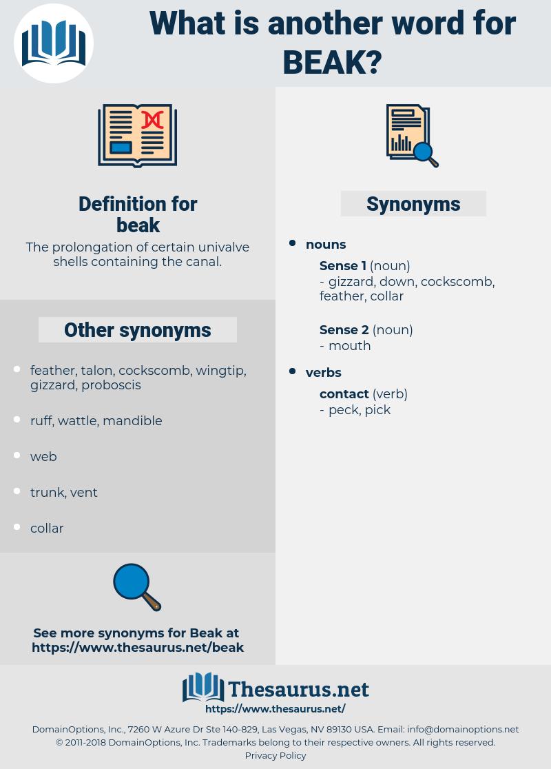 beak, synonym beak, another word for beak, words like beak, thesaurus beak