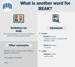 beak, synonym beak, another word for beak, words like beak, thesaurus beak