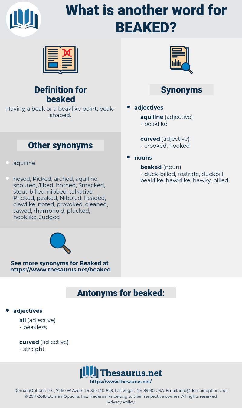 beaked, synonym beaked, another word for beaked, words like beaked, thesaurus beaked