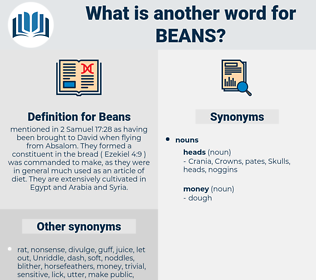 Beans, synonym Beans, another word for Beans, words like Beans, thesaurus Beans