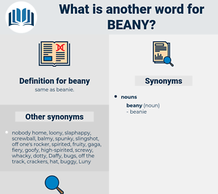 beany, synonym beany, another word for beany, words like beany, thesaurus beany