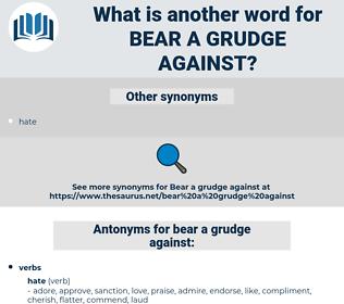 bear a grudge against, synonym bear a grudge against, another word for bear a grudge against, words like bear a grudge against, thesaurus bear a grudge against