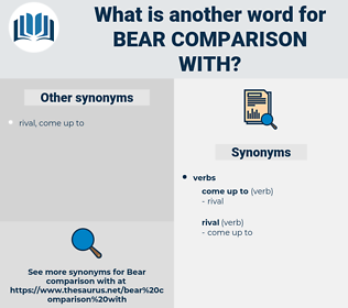 bear comparison with, synonym bear comparison with, another word for bear comparison with, words like bear comparison with, thesaurus bear comparison with