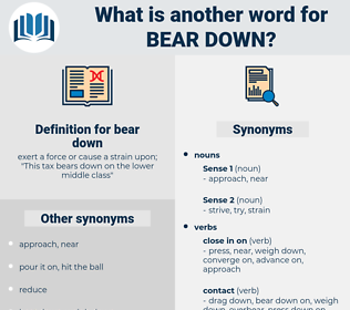 bear down, synonym bear down, another word for bear down, words like bear down, thesaurus bear down