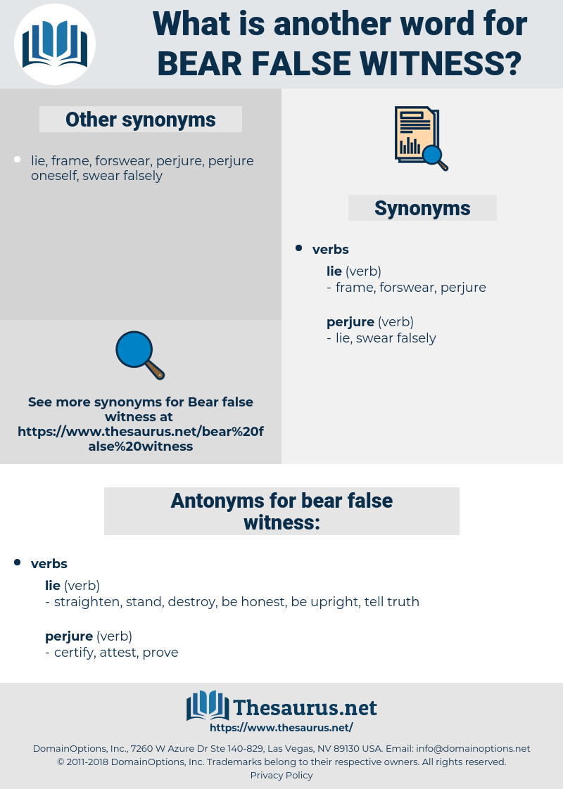 bear false witness, synonym bear false witness, another word for bear false witness, words like bear false witness, thesaurus bear false witness