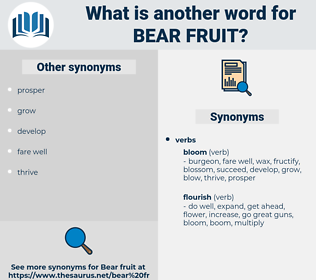 bear fruit, synonym bear fruit, another word for bear fruit, words like bear fruit, thesaurus bear fruit