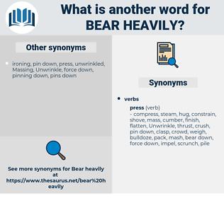 bear heavily, synonym bear heavily, another word for bear heavily, words like bear heavily, thesaurus bear heavily