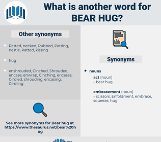 bear hug, synonym bear hug, another word for bear hug, words like bear hug, thesaurus bear hug