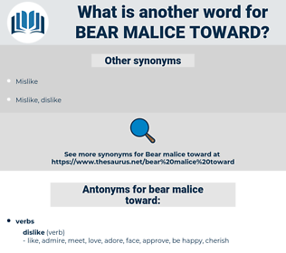 bear malice toward, synonym bear malice toward, another word for bear malice toward, words like bear malice toward, thesaurus bear malice toward
