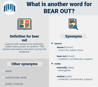 bear out, synonym bear out, another word for bear out, words like bear out, thesaurus bear out
