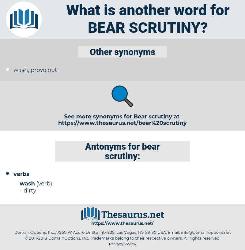 bear scrutiny, synonym bear scrutiny, another word for bear scrutiny, words like bear scrutiny, thesaurus bear scrutiny