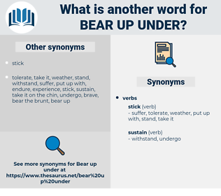 bear up under, synonym bear up under, another word for bear up under, words like bear up under, thesaurus bear up under