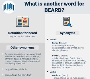 beard, synonym beard, another word for beard, words like beard, thesaurus beard