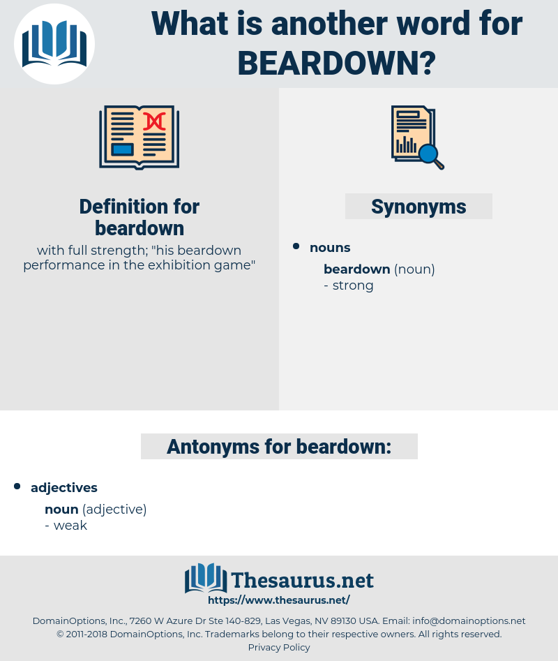 beardown, synonym beardown, another word for beardown, words like beardown, thesaurus beardown