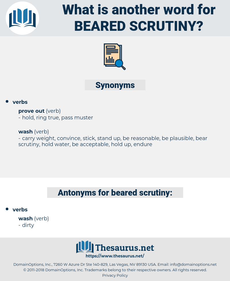 beared scrutiny, synonym beared scrutiny, another word for beared scrutiny, words like beared scrutiny, thesaurus beared scrutiny
