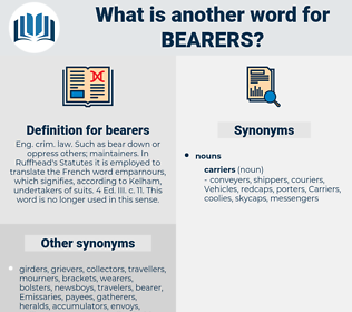 bearers, synonym bearers, another word for bearers, words like bearers, thesaurus bearers