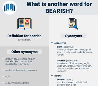 bearish, synonym bearish, another word for bearish, words like bearish, thesaurus bearish