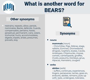 Bears, synonym Bears, another word for Bears, words like Bears, thesaurus Bears
