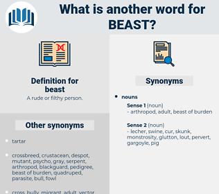 beast, synonym beast, another word for beast, words like beast, thesaurus beast
