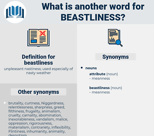 beastliness, synonym beastliness, another word for beastliness, words like beastliness, thesaurus beastliness