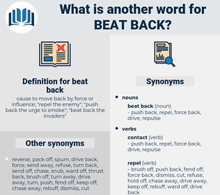 beat back, synonym beat back, another word for beat back, words like beat back, thesaurus beat back
