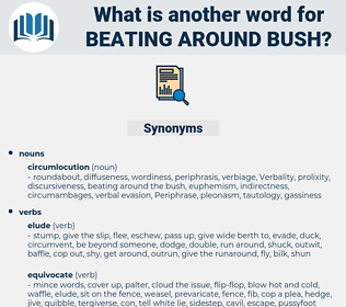 beating around bush, synonym beating around bush, another word for beating around bush, words like beating around bush, thesaurus beating around bush