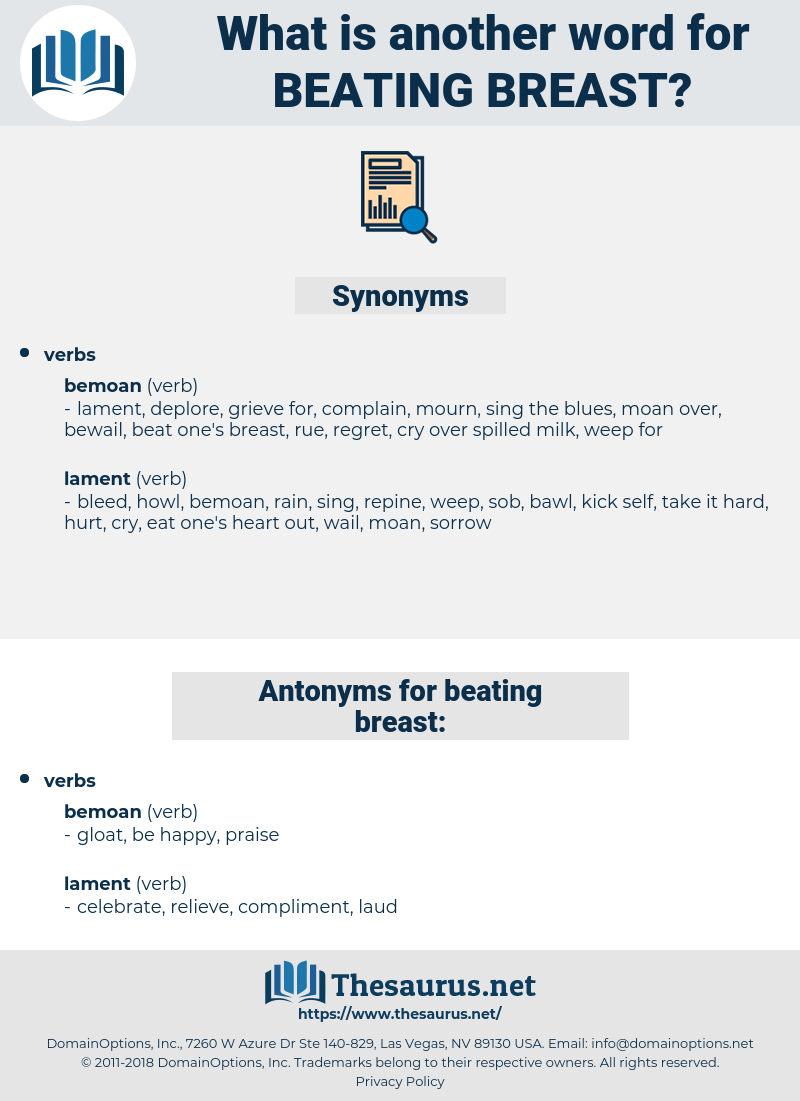 beating breast, synonym beating breast, another word for beating breast, words like beating breast, thesaurus beating breast