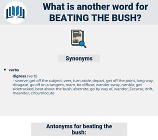 beating the bush, synonym beating the bush, another word for beating the bush, words like beating the bush, thesaurus beating the bush