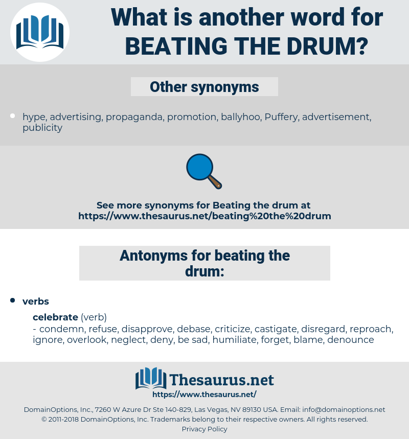 beating the drum, synonym beating the drum, another word for beating the drum, words like beating the drum, thesaurus beating the drum