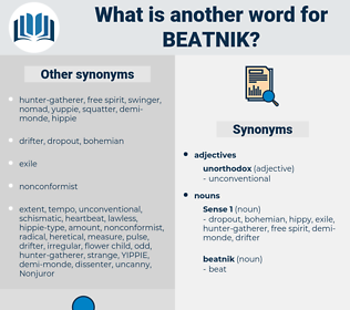 beatnik, synonym beatnik, another word for beatnik, words like beatnik, thesaurus beatnik
