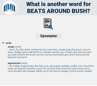 beats around bush, synonym beats around bush, another word for beats around bush, words like beats around bush, thesaurus beats around bush