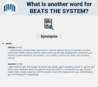beats the system, synonym beats the system, another word for beats the system, words like beats the system, thesaurus beats the system