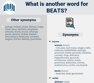 beats, synonym beats, another word for beats, words like beats, thesaurus beats