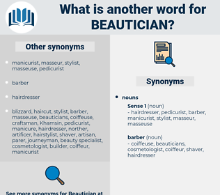 beautician, synonym beautician, another word for beautician, words like beautician, thesaurus beautician