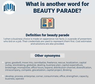 beauty parade, synonym beauty parade, another word for beauty parade, words like beauty parade, thesaurus beauty parade