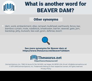 beaver dam, synonym beaver dam, another word for beaver dam, words like beaver dam, thesaurus beaver dam