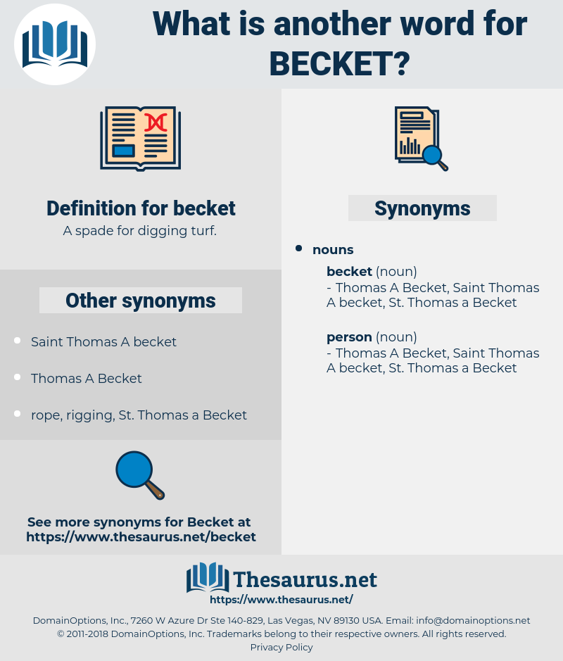 becket, synonym becket, another word for becket, words like becket, thesaurus becket